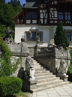 Peles, Palace, Castle, Sinaia, Romania, Staircase