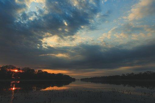 Landscape, River, Forest, Nature, Travel, Sunset
