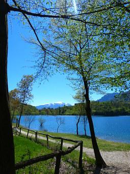 Tenno Lake, Lago Di Tenno, Italy, Away, Mountains