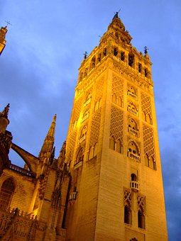 Giralda, Tower, Seville, Cathedral, Spain, Monuments