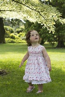 Girl, Young, Tree, Light, Cute, Beauty, Wondering