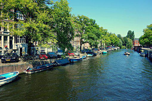 City, Amsterdam, Canal, Historic, Famous