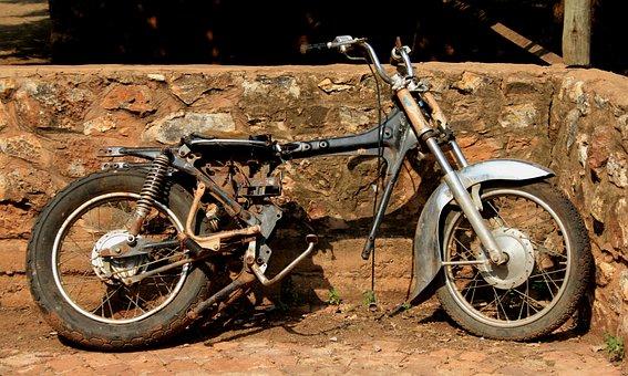 Old, Forgotten, Motorbike, Memories, Broken, Disrepair