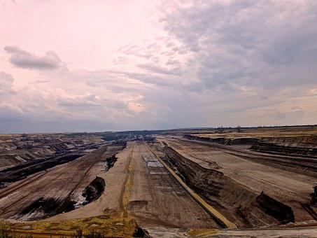 Brown Coal, Earth, Industry, Exploitation, Nature