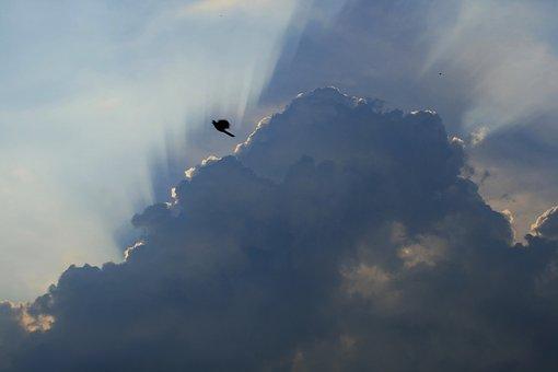 Cloudscape, Dark Clouds, Edge Of Light, Spread Of Rays