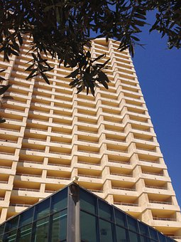 Hotel, Building, Tower, Exterior, Structure, Facade