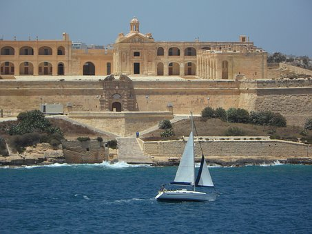 Fixing, Fortress, Sailing Boat, Sea, From The Sea