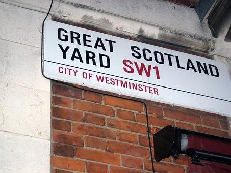 Great Scotland Yard, Street Sign, London