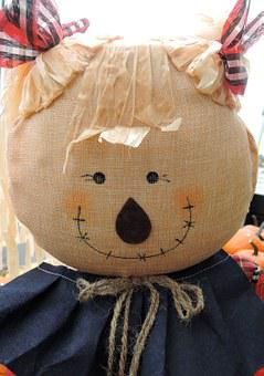 Straw Doll, Harvest, Halloween, Fabric, Scarecrow