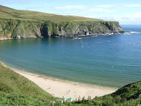 Ireland, Landscape, Irish, Sky, Sea, Beach, Water