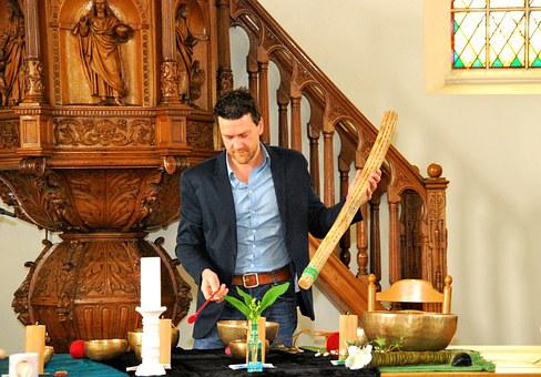 Sound, Healing, Bowls, Clergy, Ritual
