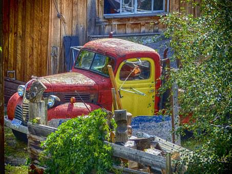 Truck, Old Timer, Automobile, Colorful, Old, Rusty