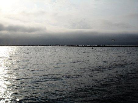 Water, Ripples, Sea, Reflection, Sky, Cloud, Horizon