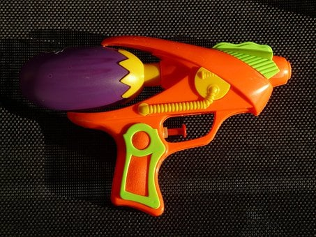 Water Gun, Spray Gun, Pistol, Toys, Child, Colorful