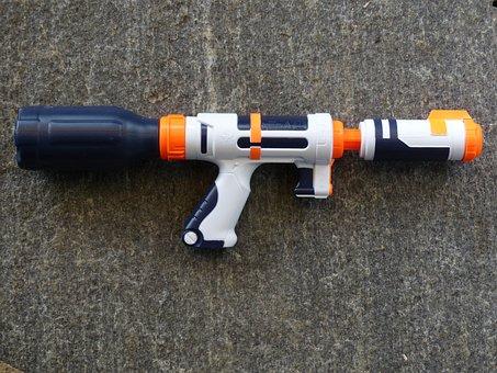 Water Gun, Spray Gun, Pistol, Toys, Child, Play