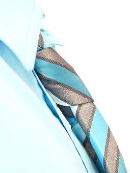 Tie, Tie Knot, Shirt, Suit, Knot, Light Blue, Turquoise