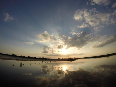Bay, Sea, Beach, Sun, Summer, Distant, Lake, Water