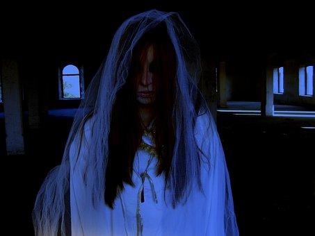 Ghost, Halloween, Horror, Bride, White, Death