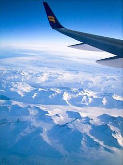 Plane, Airplane, Wing, Ice, Snow, Iceberg, Winter