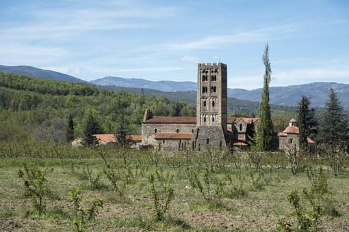 France, Eastern Pyrenees, Codalet, Abbey