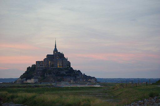 Saint-michel, Normandy, Abbey, Mont Saint Michel
