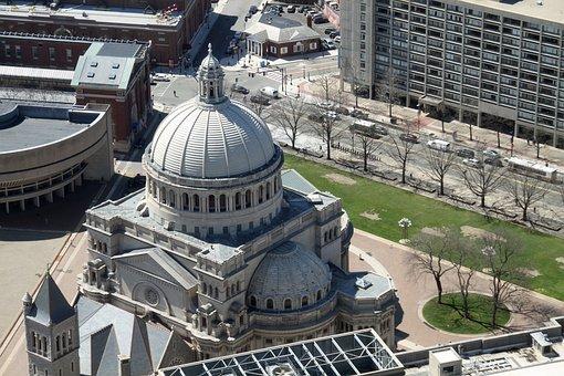 Aerial View, Church, The First Church Of Christ