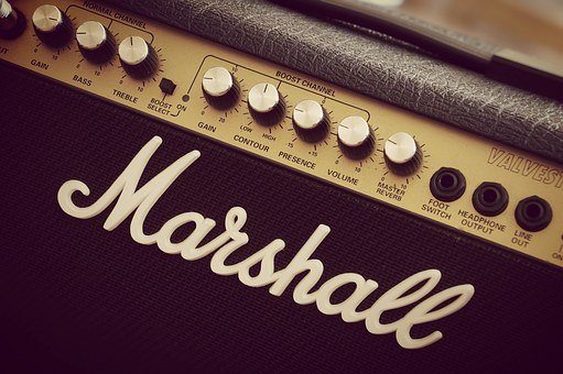 Marshall, Amplifier, Guitar, Electric Guitar, Amp