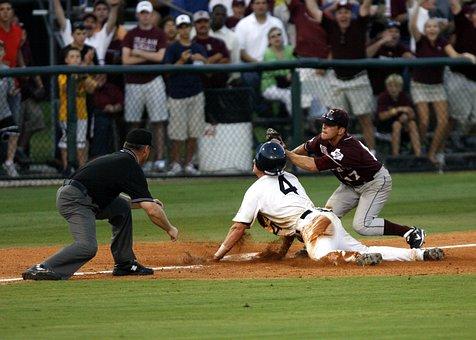 Baseball, Umpire, College Baseball, Call At Third