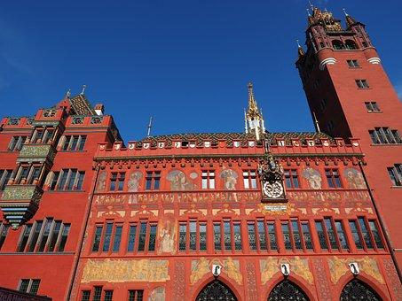 Basel City Hall, Facade, Town Hall, Basel, Building