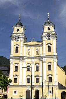 Basilica, St Michael, Mondsee, Salzkammergut, Region