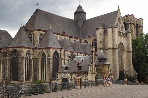Church, Santa Michael, Gent, Belgium, Architecture