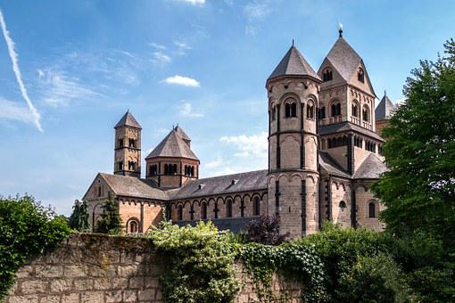 Monastery, Church, Benedictine, Maria Laach, Abbey