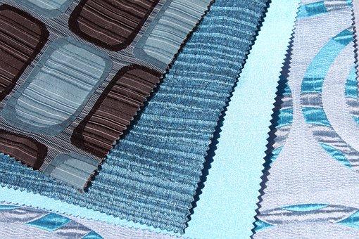 Materials, Blue, Samples, Web, Textile, Print, Model
