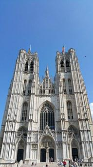 Belgium, Brussels, Church, Cathedral