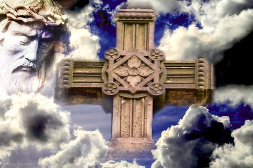 Jesus, Clouds, Christianity, Cross, Sign Of The Cross