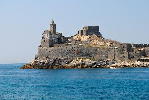 Church, Sea, Promontory, Italy, Water, Cathedral