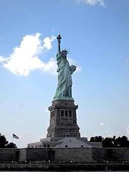 Statue, Liberty, New, York, City, Nyc, America, Usa