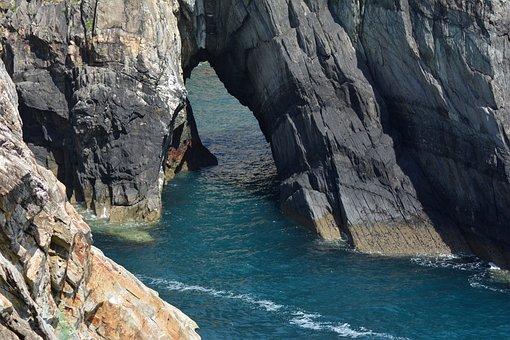 Breakthrough, Cliff, Cliffs, Sea, Water, Rock