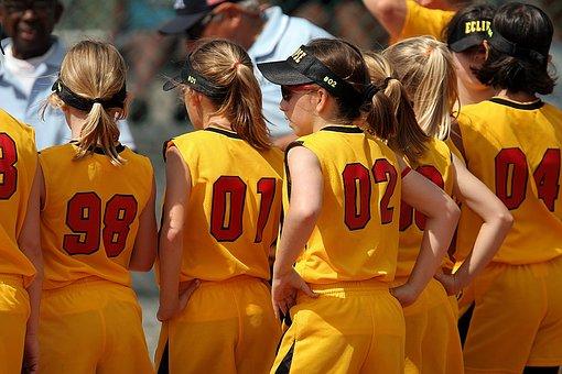 Softball, Team, Girls, League, Competition, Field