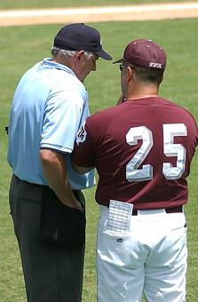Baseball, Umpire, Coach, Discussion, Sport, Game