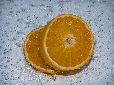 Orange, Splash, Slowmotion, Drop Of Water, Fruit