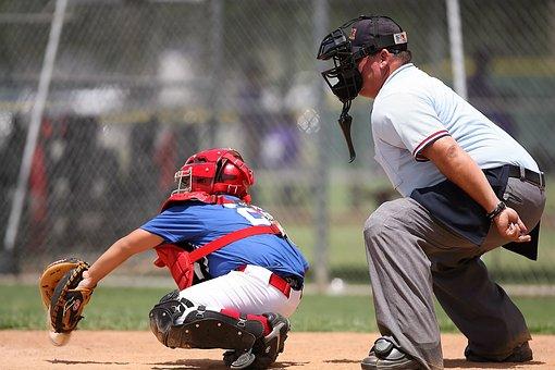 Baseball, Catcher, Umpire, Sport, Field, Player