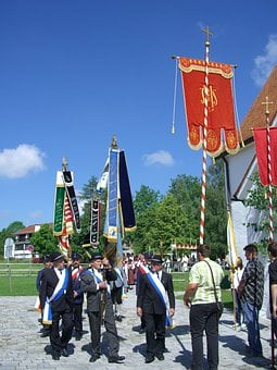 Corpus Christi, Procession, Flag Secondments, Flags