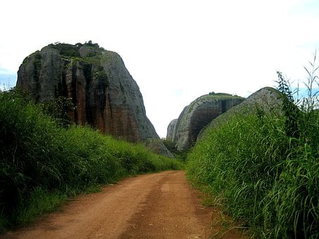 Angola, Sky, Clouds, Rocks, Stones, Formations