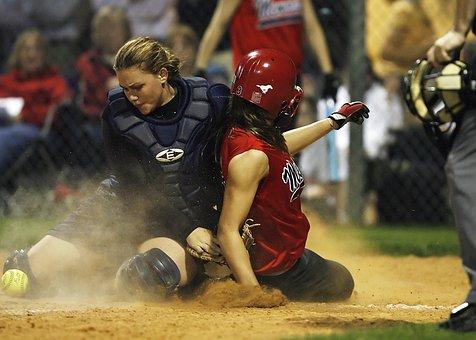 Softball, Girls, Game, Sport, Ball, Runner, Helmet