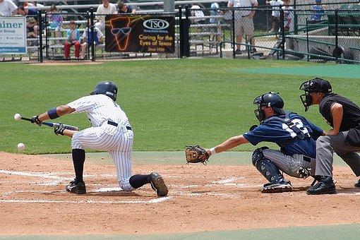 Baseball, Batter, Hit, Bunt, Sport, Bat, Game, Player