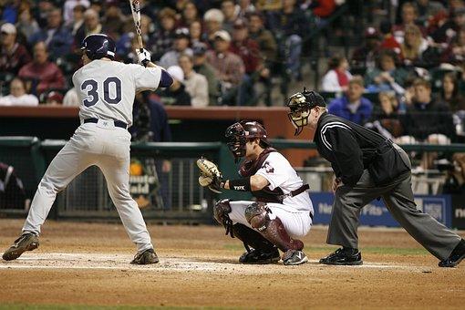 Baseball, Game, Hitter, Catcher, Umpire, Home Plate