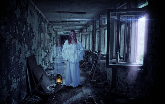 Trick, Effects, Ghost, Girl, Scary, Horror, Corridor