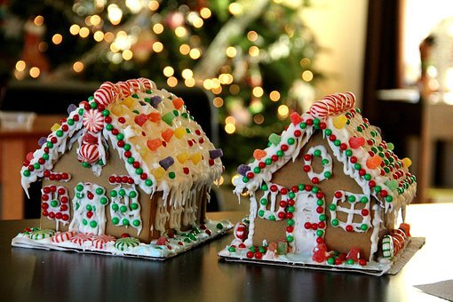 Gingerbread House, Gingerbread, Christmas, X-mas