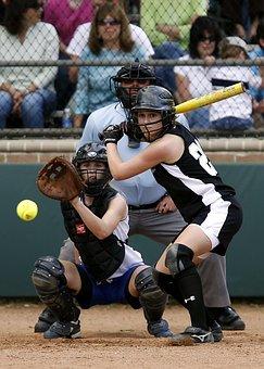 Softball, Girls Softball, Action, High School, Game